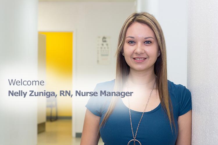 Welcome Nelly Zuniga, Nurse Manager